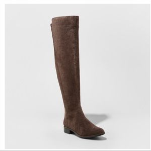NIB Over the Knee Riding Boot Brown Size 9